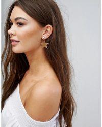 Boohoo - Metallic Star Earrings - Lyst