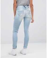 Pepe Jeans - Blue Alyx Patch Mom Jeans - Lyst
