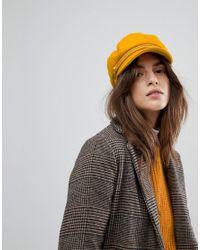 edf29f8198a Lyst - Brixton Baker Boy Hat In Mustard in Yellow