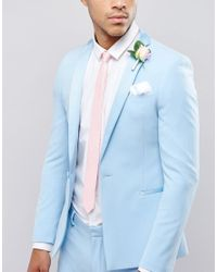 ASOS - Wedding Slim Tie In Pink for Men - Lyst