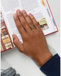 Icon Brand - Metallic Signet Ring In Gold for Men - Lyst