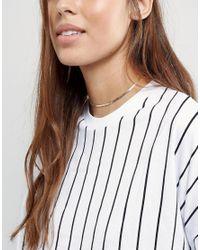 ASOS   Metallic Fine Chain Choker Necklace   Lyst