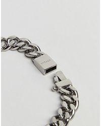 Vitaly - Metallic Kickback Bracelet In Antiqued Steel for Men - Lyst