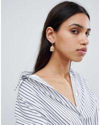 Reclaimed (vintage) - Metallic Inspired Cross Charm Earrings - Lyst
