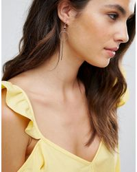 Pieces - Red Circle Drop Earrings - Lyst
