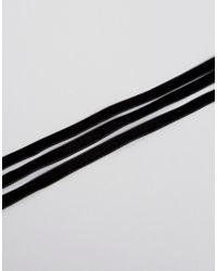 ASOS - Black Velvet Wrapped Choker Necklace - Lyst
