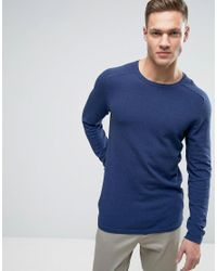 SELECTED | Blue Knit In Marl for Men | Lyst