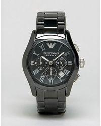 Emporio Armani - Ar1400 Chronograph Black Ceramic Watch for Men - Lyst