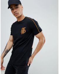 DFND - Black Grid Back Print T-shirt for Men - Lyst