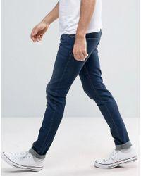 DIESEL - Blue Sleenker Skinny Jeans 0854e Dark Wash for Men - Lyst