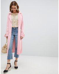 Vero Moda - Pink Trench Coat - Lyst