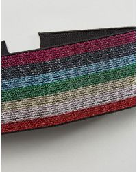 ASOS - Multicolor Rainbow Glitter Choker Necklace - Lyst