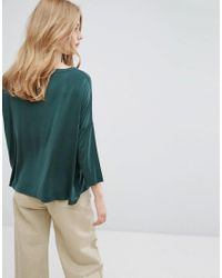 Weekday - Green Peach Feel Trapeze Top - Lyst