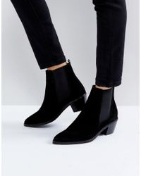 H by Hudson - Black H By Hudson Suede Ankle Boots - Lyst