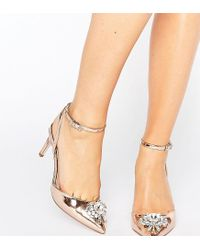 ASOS | Natural Society Wide Fit Embellished Heels | Lyst