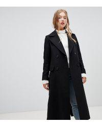 3af6ef0565d6 New Look Tailored Maxi Coat In Black in Black - Lyst