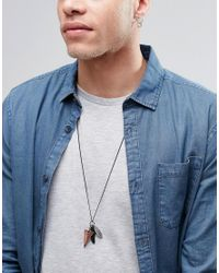 Icon Brand - Black Feather Necklace Pack for Men - Lyst