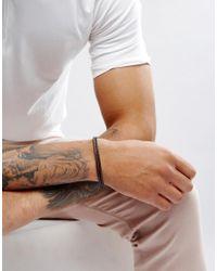 Ted Baker - Double Strand Leather Bracelet In Blue for Men - Lyst
