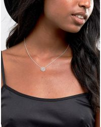 ASOS - Metallic Sterling Silver Cut Out Disc Short Pendant Necklace - Lyst