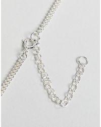 ASOS DESIGN - Metallic Short Sterling Silver Necklace for Men - Lyst