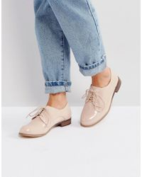 London Rebel - Natural Clean Lace Up Shoe - Lyst
