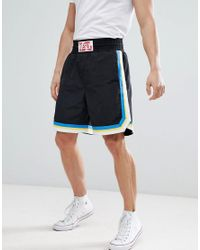 DIESEL - Black P-boxer Cracked Logo Shorts With Contrast Stripe for Men - Lyst
