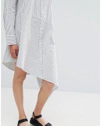 Weekday - White Stripe Dress - Lyst