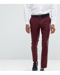 Only & Sons - Red Skinny Suit Pants for Men - Lyst
