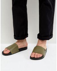 KG by Kurt Geiger   Green Kg By Kurt Geiger Slider Sandals for Men   Lyst