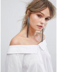 New Look - Metallic Statement Tassel Earrings - Lyst