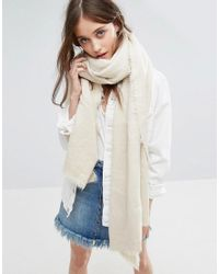 Free People | Natural Koda Brushed Scarf | Lyst