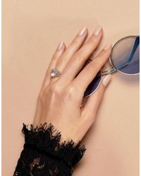 Regal Rose - Metallic Quartz Silver Sterling Ring - Lyst