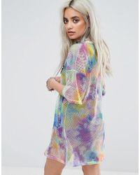 Jaded London | Multicolor Oversized Tshirt Dress In Tie Dye Print | Lyst