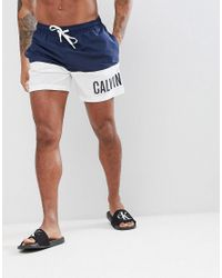 e0cfbaaeca Calvin Klein Intense Power Plus Swim Shorts in Blue for Men - Lyst
