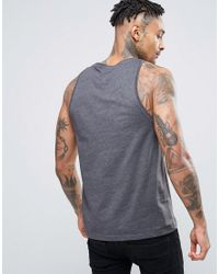 ASOS - Gray Muscle Vest In Charcoal Marl for Men - Lyst