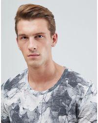 Jack & Jones - Black Originals Longline T-shirt With All Over Print for Men - Lyst