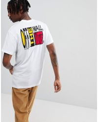 adbbd8f4ab56be Vans Circa 66 T-shirt With Back Print In White Va36udwht in White ...
