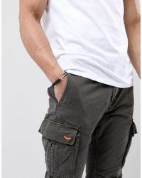 ASOS - Design Anchor Bracelet In Black for Men - Lyst