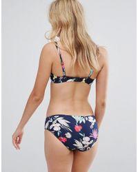 Seafolly - Blue Flower Festival Bikini Bottom - Lyst