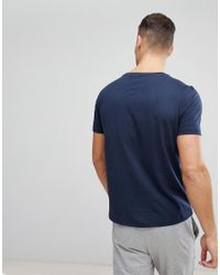 Tommy Hilfiger - Blue Flag Icon T-shirt In Organic Cotton In Navy for Men - Lyst