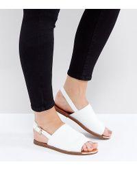 New Look | White Metal Detail Slingback Sandal | Lyst
