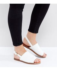 New Look   White Metal Detail Slingback Sandal   Lyst