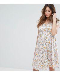 9d8c3906ac1ae Bluebelle Maternity. Women's Nursing Floral Wrap Dress