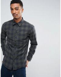 Jack & Jones | Black Checked Shirt for Men | Lyst