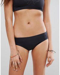 Billabong - Black Embroidered Cutwork Bikini Bottom - Lyst