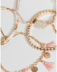 ALDO - Pink Multipack Friendship Bracelets With Tassels - Lyst
