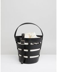 ASOS - Black Asos Skeleton Bucket Bag - Lyst