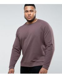 ASOS - Plus Sweatshirt In Brown for Men - Lyst