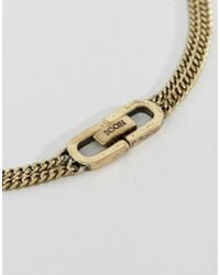 Icon Brand - Metallic Double Curb Necklace In Burnished Gold for Men - Lyst