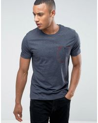 Original Penguin - Blue Flat Lock Pocket T-shirt for Men - Lyst